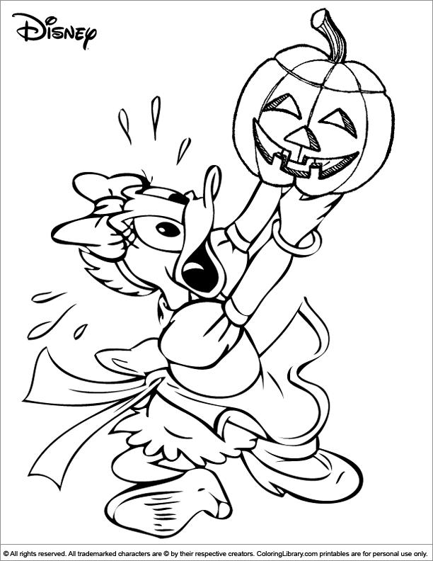 Halloween Disney coloring sheet for kids