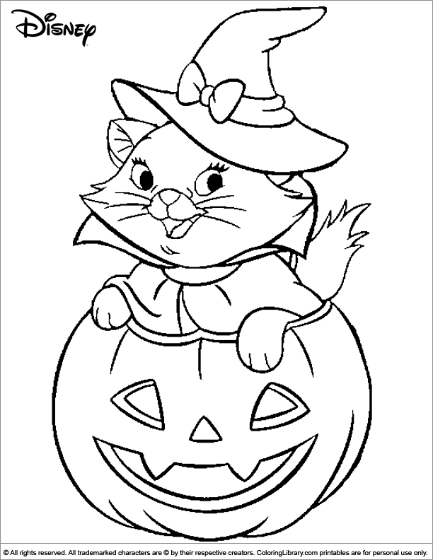 cute witch halloween coloring pages - photo#22
