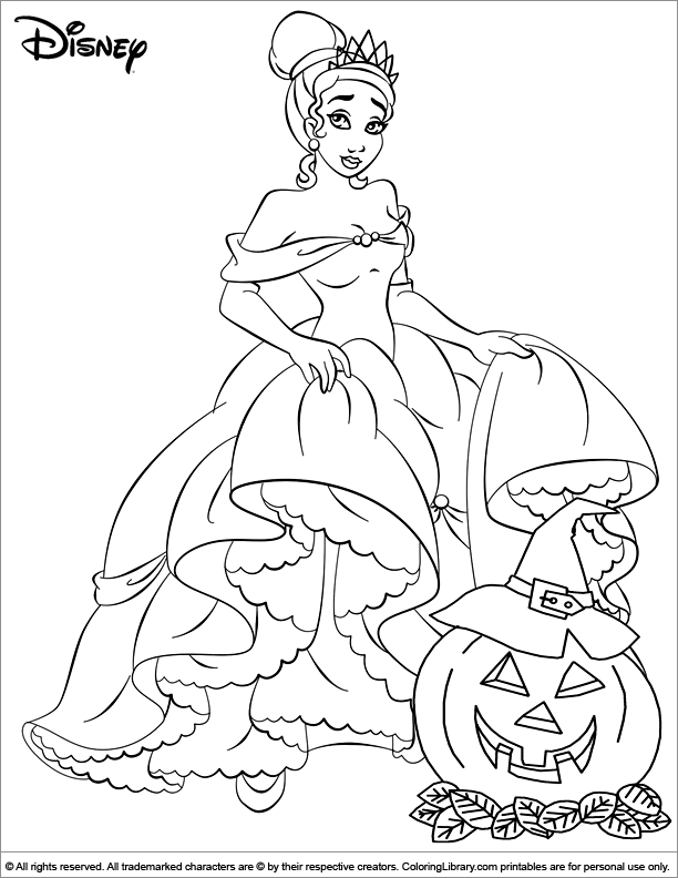 Halloween Disney coloring book sheet