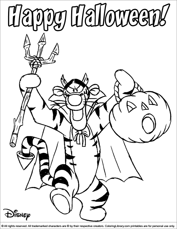 Halloween Disney for coloring