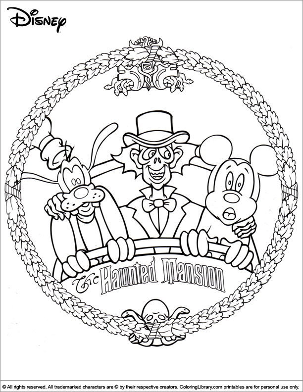 Home Coloring Pages Disney