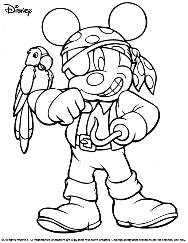 Halloween Disney printable coloring page for kids