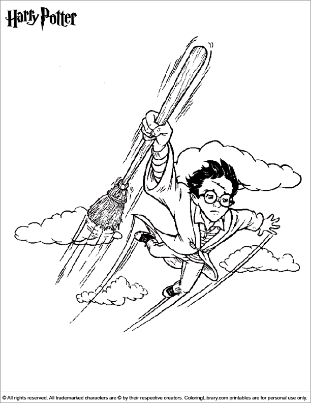 Harry Potter coloring page for children