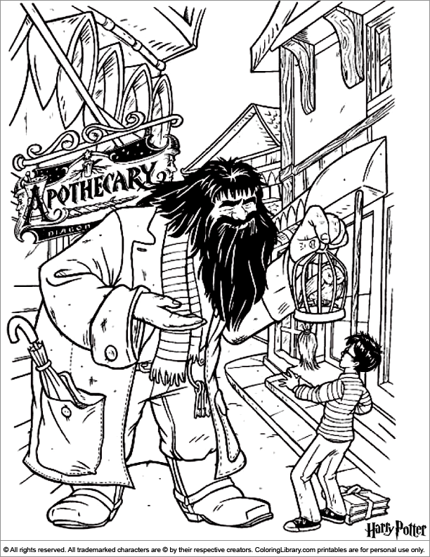 Harry Potter coloring sheets for kids