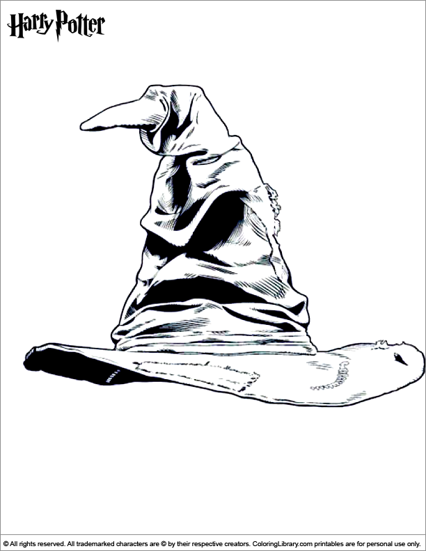 Harry Potter Sorting Hat Coloring