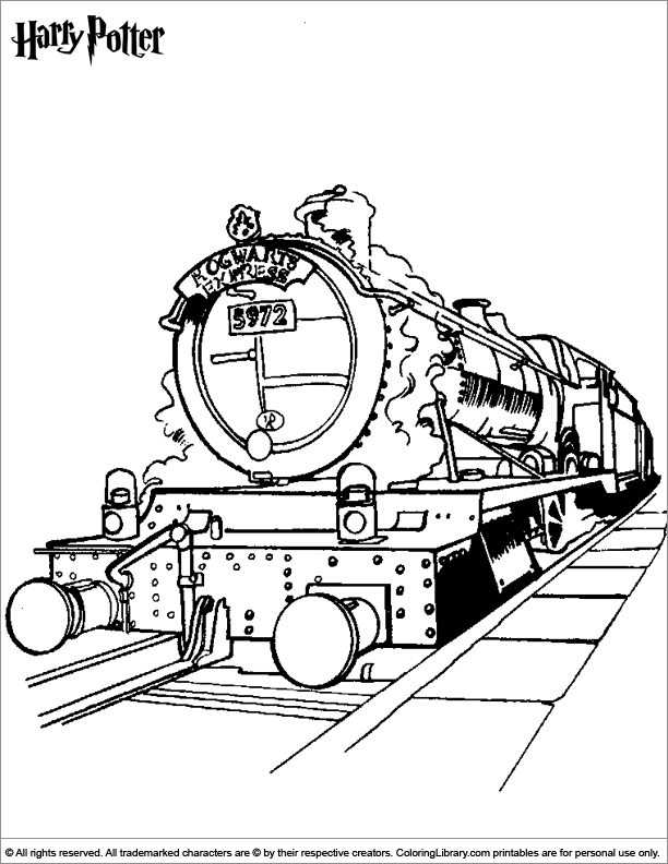 Harry Potter free coloring page for children