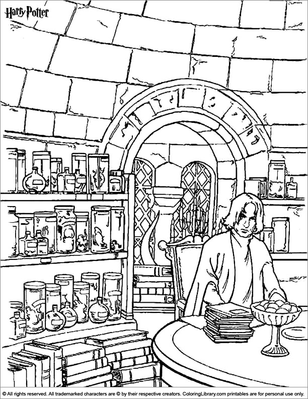 harry potter castle coloring pages - photo#24