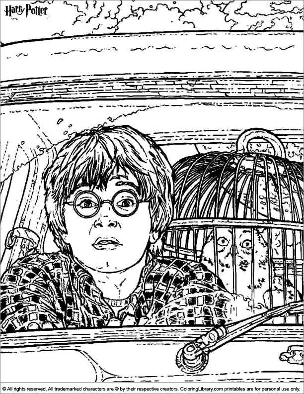 Harry Potter coloring page that you can print