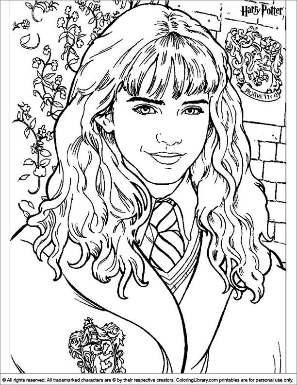 Harry potter gryffindor coloring pages sketch coloring page for Harry potter coloring pages