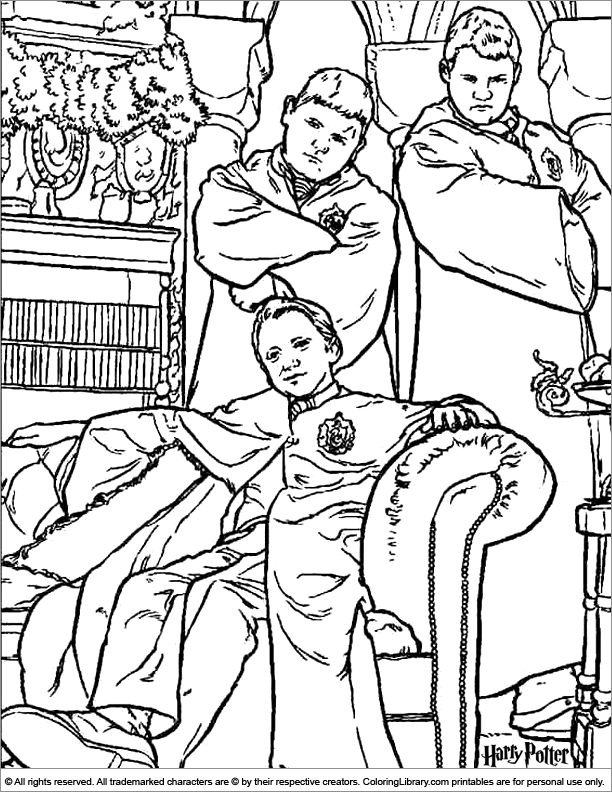 Harry Potter fun coloring picture