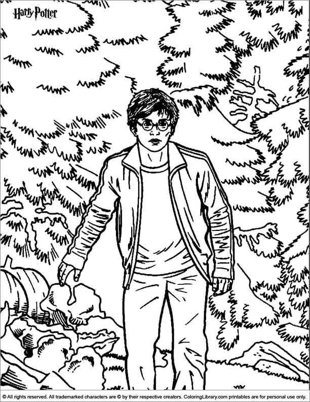 Harry Potter printable coloring page