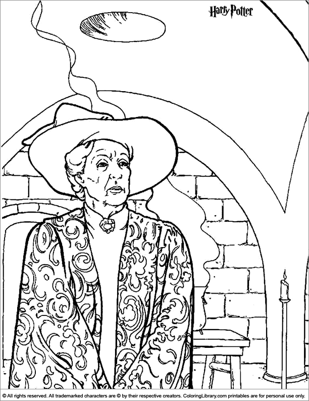Minerva mcgaonagall free coloring pages for Harry potter coloring pages free printable