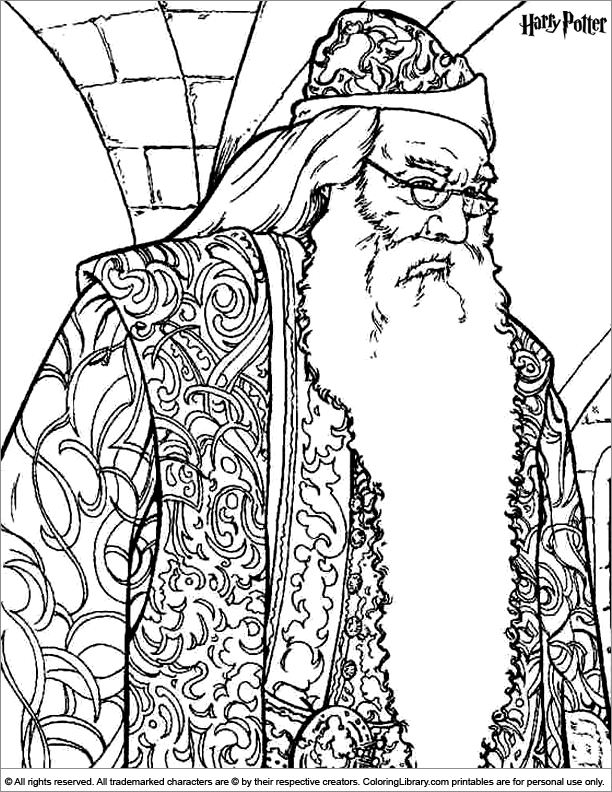 Harry Potter Free Printable Coloring Page Coloring Library