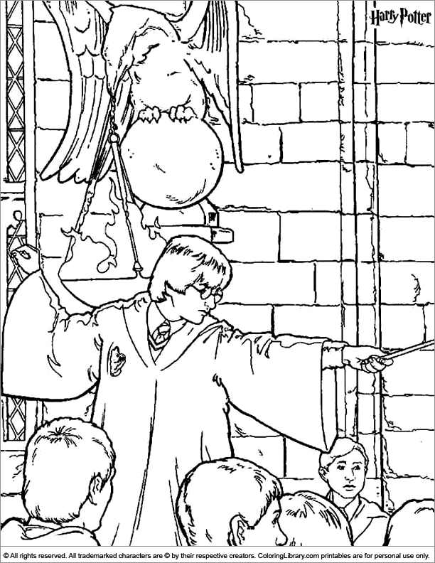 Harry Potter coloring sheet for kids