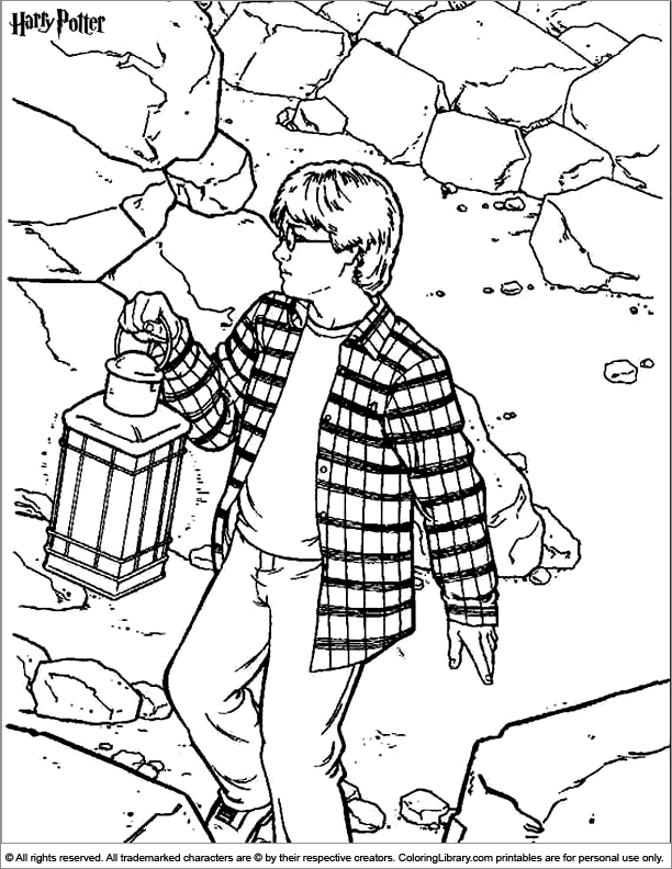 Harry Potter colouring in