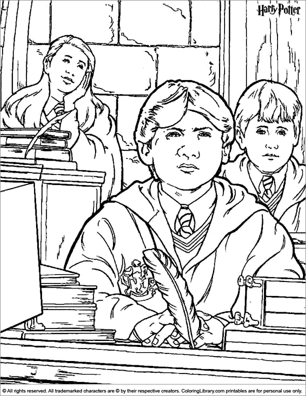 Harry Potter coloring book page
