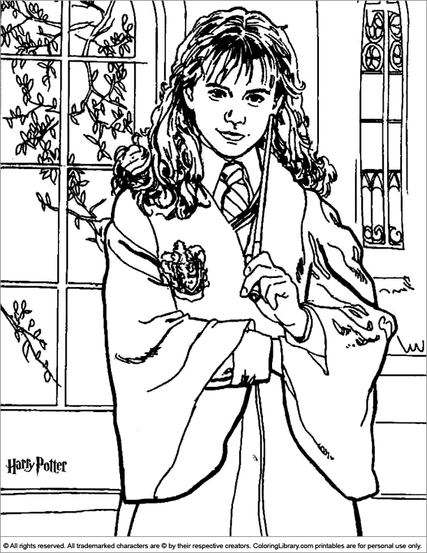 Printable Harry Potter coloring page
