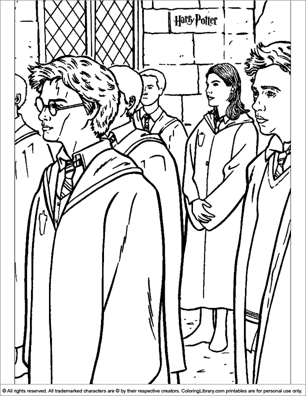 Harry Potter coloring book sheet