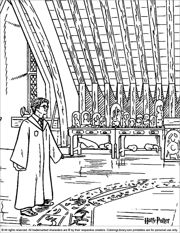 Fun Harry Potter coloring page