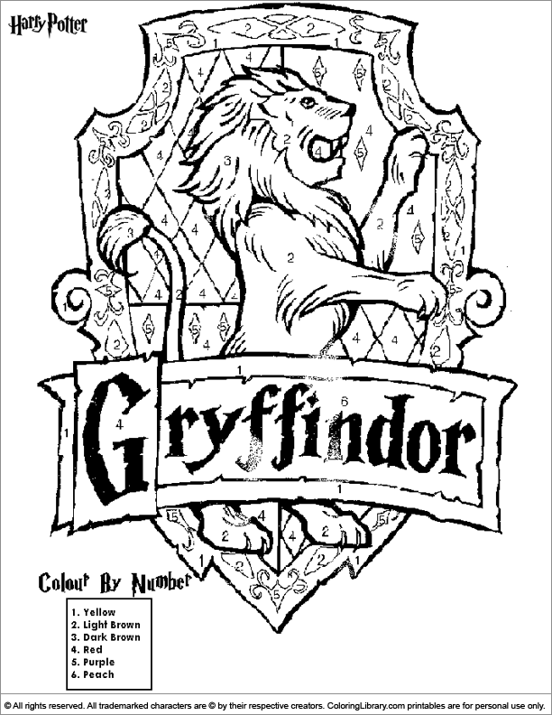 harry potter castle coloring pages - photo#35