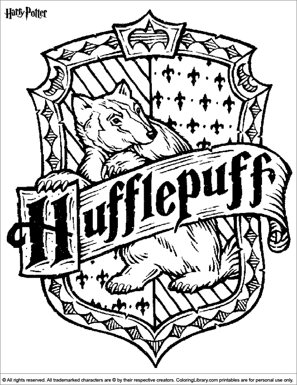 M Hogwarts Logo Coloring Page Detailed Coloring Pages Gryffindor Coloring Pages