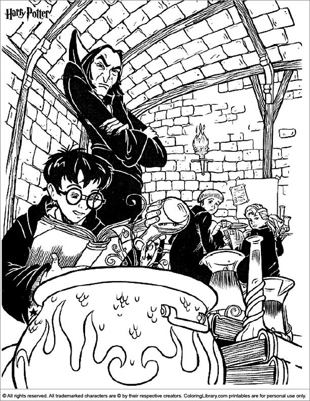Harry Potter colour page