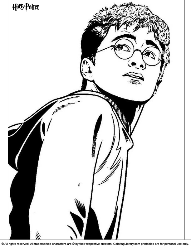 Harry Potter coloring page online