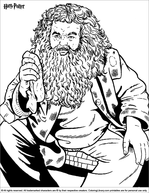 Harry Potter coloring page to print