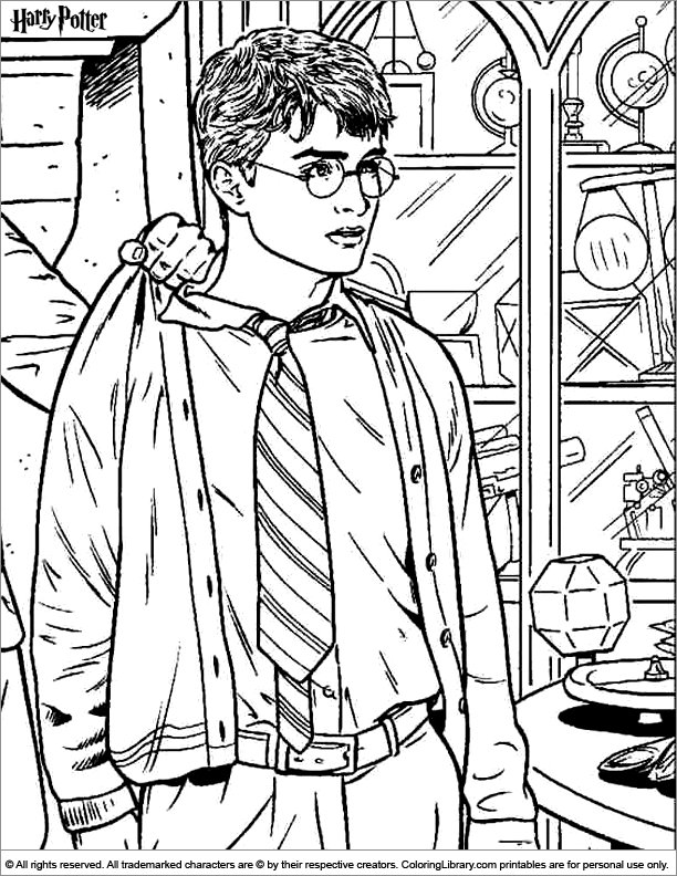 Harry Potter coloring page fun - Coloring Library