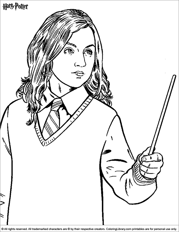 hogwarts coloring pages Harry Potter Easy Coloring Pages  Coloring In Harry Potter