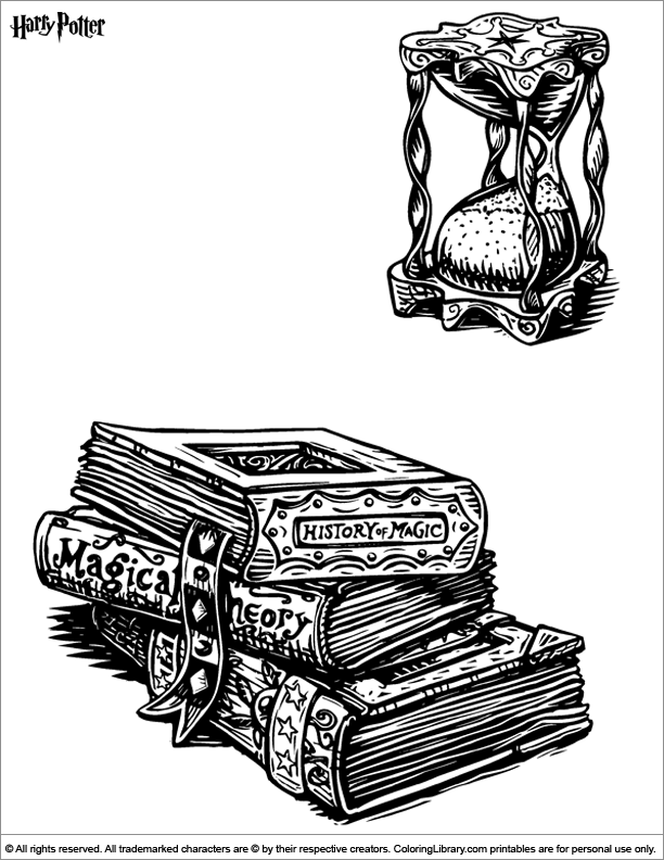 Harry Potter colouring page