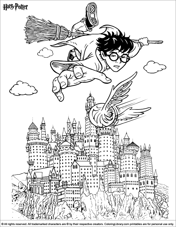 Harry potter coloring picture for Harry potter coloring pages