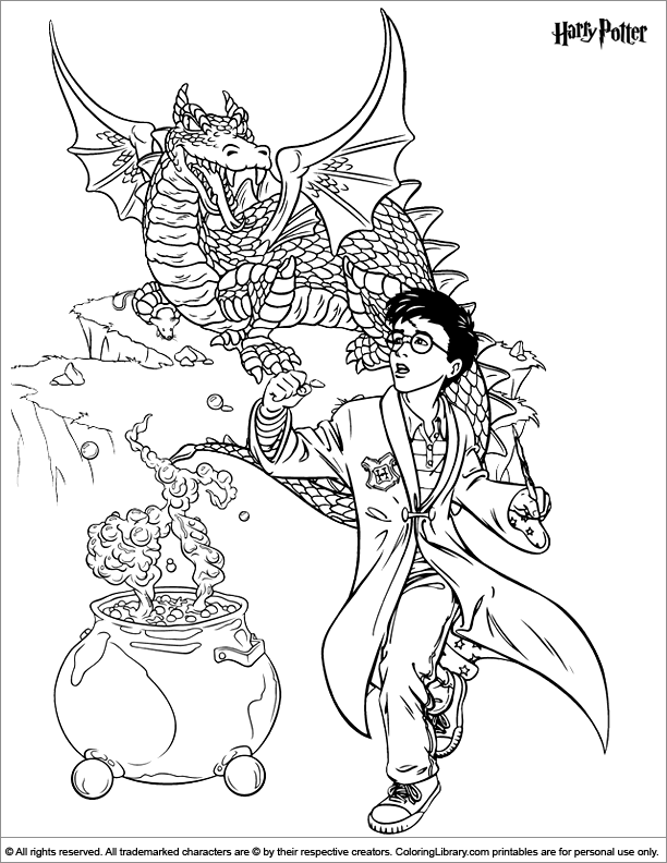 Invaluable image for harry potter printable coloring pages