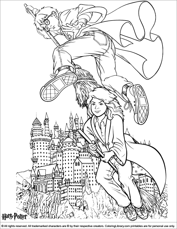 Harry Potter coloring pictures for kids - Coloring Library