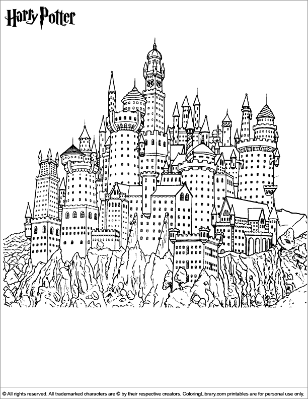 Harry Potter printable coloring picture
