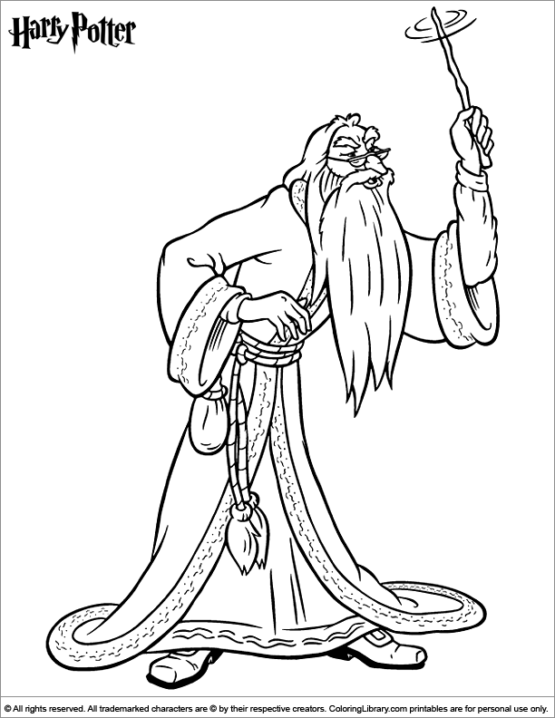 Snape Harry Potter Coloring Pages