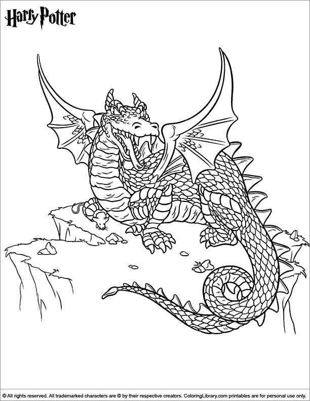 Harry Potter coloring page to color for free