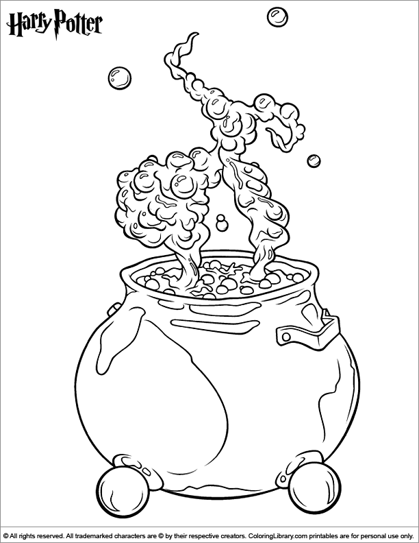 Harry potter free coloring page for children coloring for Easy harry potter coloring pages