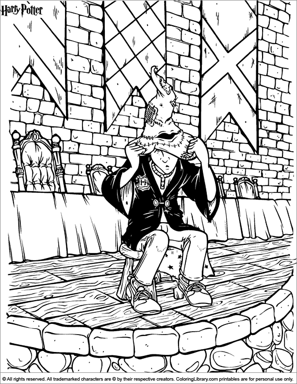 Harry Potter picture to print and color
