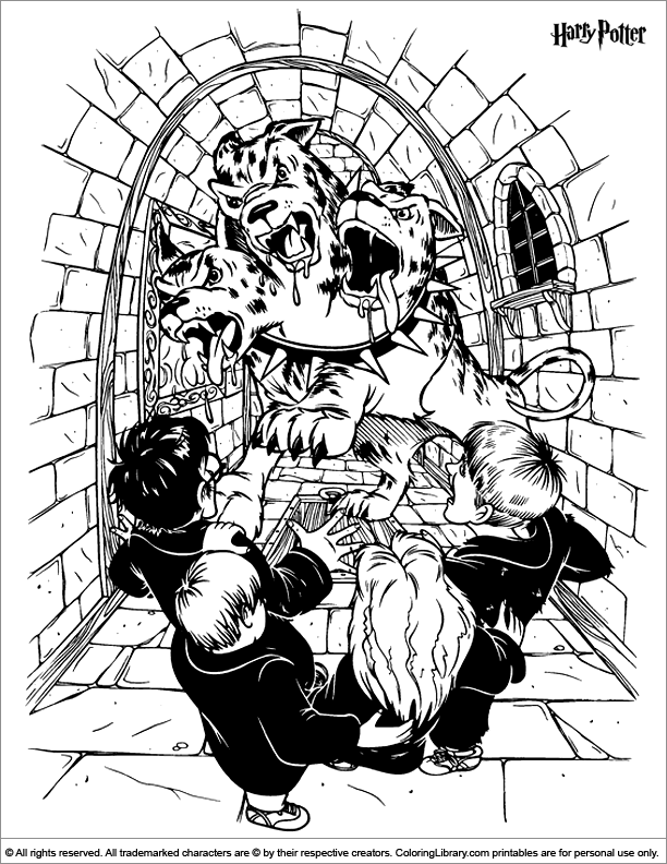 Harry Potter free coloring book page