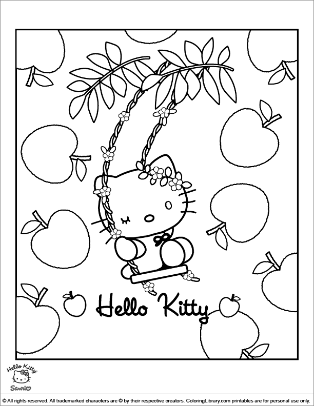Www Hello Kitty Coloring Pages