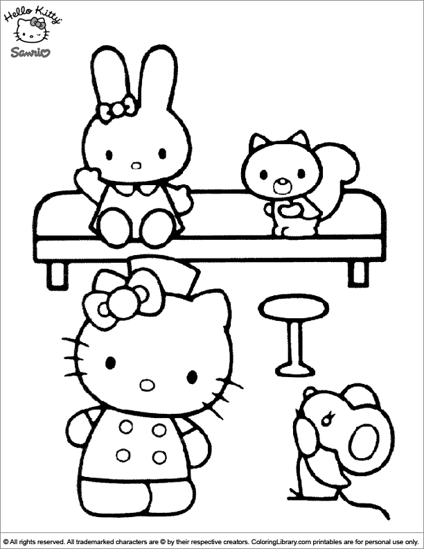 Hello Kitty printable for kids