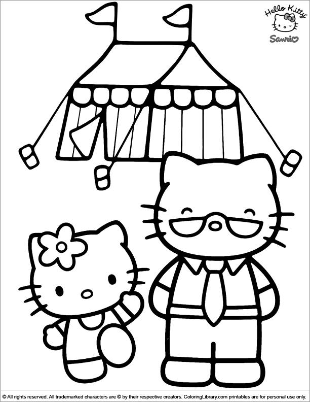 Hello Kitty coloring for children