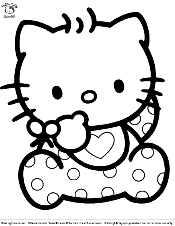 Fun Hello Kitty coloring page