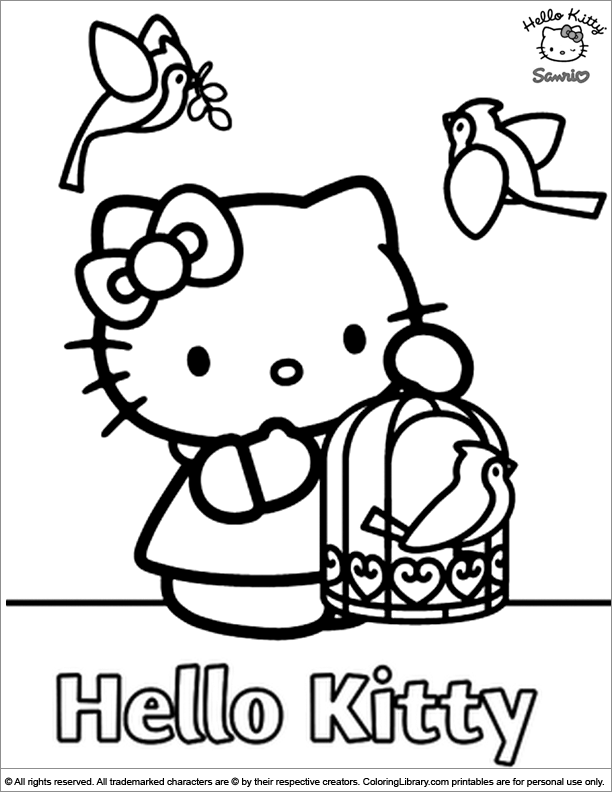 Hello Kitty for coloring