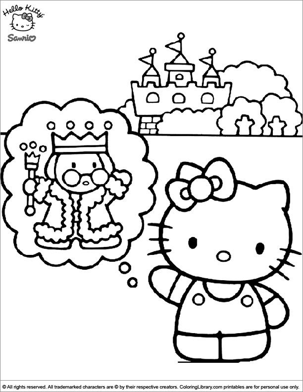 Hello Kitty color sheet