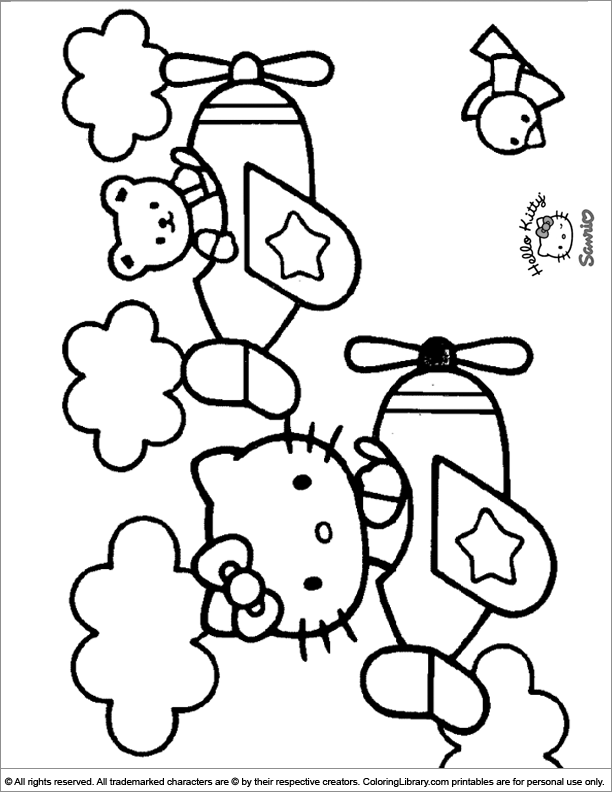 Hello Kitty coloring page fun
