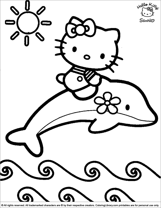Hello Kitty coloring book picture