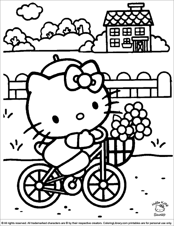 Hello Kitty coloring fun