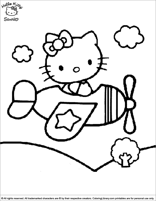 Hello Kitty colouring page